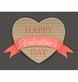 cardboard heart and ribbon vector image