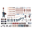 businessman or office worker creation kit vector image