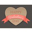 cardboard heart and ribbon vector image