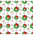 Christmas Seamless Pattern with Angels vector image
