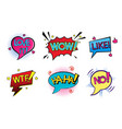 comic pop art speech bubbles set vector image