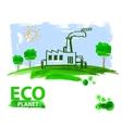 eco concept planet vector image