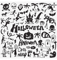 Halloween monsters doodles vector image