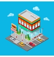 Isometric City Restaurant Fast Food Cafe vector image