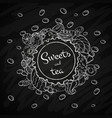 label sweet shop swirl candy chocolate lollipop vector image