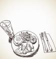 Sketch of food vector image
