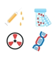 genetically modified product icons vector image