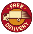 free delivery truck vector image vector image