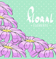 bright floral postcard vector image