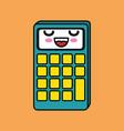 calculator math character kawaii vector image