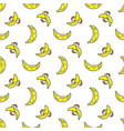 Seamless patterns line icons fruit banana vector image