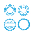 Set of Circle pattern Icons vector image