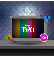 TV box with empty screen vector image