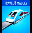 Travel by maglev train vector image vector image