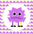 Little Cute Violet Monster vector image