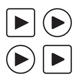 Set of play button icons vector image
