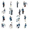 Business People Isometric Set vector image