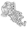 Zentangle jellyfish doodle Hand drawn vector image