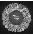 Coral graphic wreath vector image
