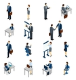 Business People Isometric Set vector image