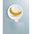 Figure ripe banana on a white plate vector image