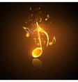 golden music notes vector image