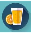 Juice glass Flat designed style icon vector image