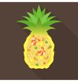 Pineapple fried rice vector image