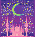 ramadan background - mosque card vector image