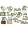 Set of Ten Dollars Banknotes vector image