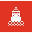 The ship icon Travel symbol Flat vector image