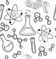 doodle science pattern seamless vector image