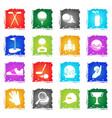 golf icon set vector image