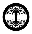 opposite man face in human concept tree symbol vector image