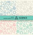 chemistry seamless patterns set vector image