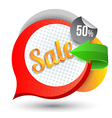 Sale tag banner with arrow vector image