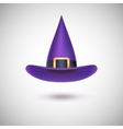 Purple witch hat for Halloween vector image vector image