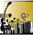 city guitar vector image