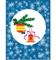 Christmas bell and bauble vector image vector image
