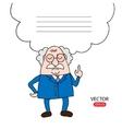 Cartoon Scientist or Professor takes advise vector image