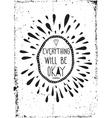 Simple vintage motivational poster doodles grunge vector image