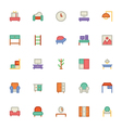Building and Furniture Icons 7 vector image