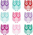 Cute Owl Silhouette Collections vector image vector image