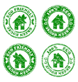 grunge HOUSE stamp vector image vector image