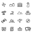 thin line icons - travel vector image