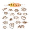 arabic cuisine traditional food set vector image