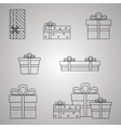 Gift Boxes Line Presents vector image