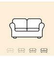 icon of sofa vector image