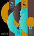 Infographic Circles ABCD vector image