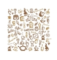Coffee time background for your design vector image vector image